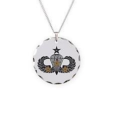 Combat Parachutist 3rd Awd Sr.B-W Necklace