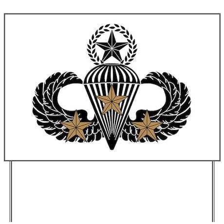 Combat Parachutist 3rd Awd Mast. B-W Yard Sign