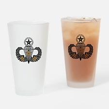 Combat Parachutist 3rd Awd Mast. B-W Drinking Glas