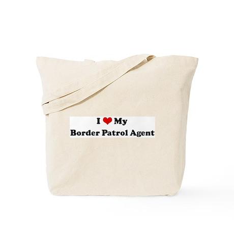 I Love Border Patrol Agent Tote Bag