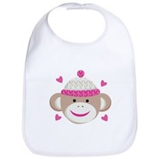 Sock Monkey Cute Bib