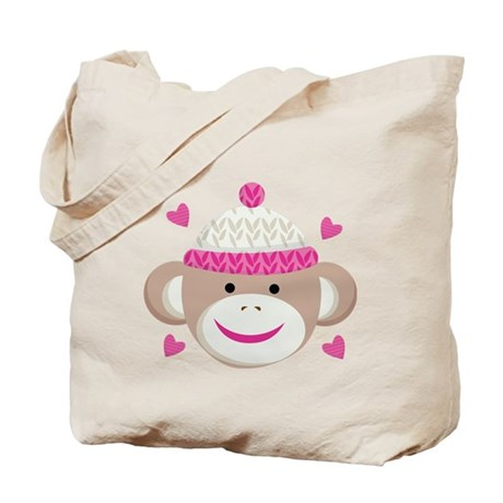 Sock Monkey Cute Tote Bag