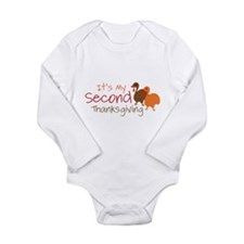 Second Thanksgiving Long Sleeve Infant Bodysuit