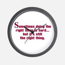 Doing the Right Thing Wall Clock