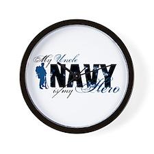 Uncle Hero3 - Navy Wall Clock