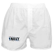 Uncle Hero3 - Navy Boxer Shorts