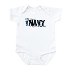 Uncle Hero3 - Navy Infant Bodysuit