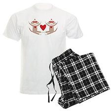 Couples Sock Monkey Pajamas