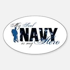 Seal Hero3 - Navy Sticker (Oval)