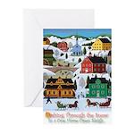 Dashing Thru the Snow Greeting Cards (Pk of 10)