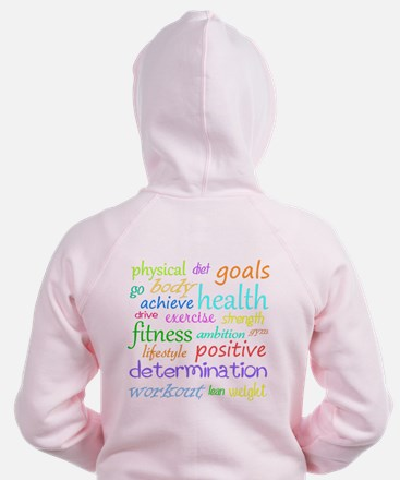 Fitness Collage Zip Hoodie
