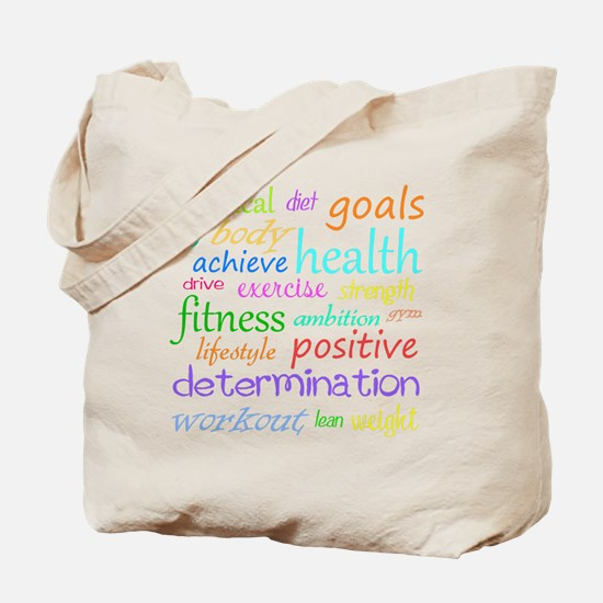 Fitness Collage Tote Bag
