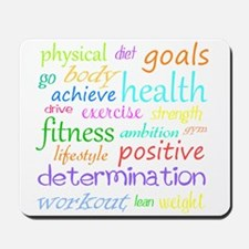 Fitness Collage Mousepad