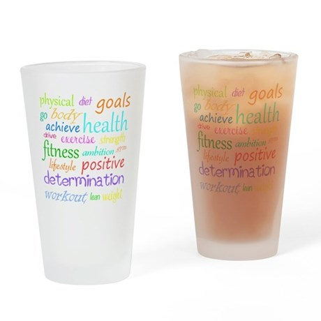 Fitness Collage Drinking Glass
