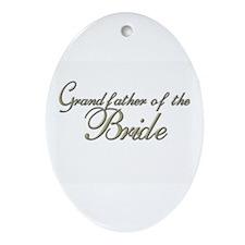 Grandfather of the Bride Oval Ornament