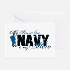 Son-in-law Hero3 - Navy Greeting Cards (Pk of 10)