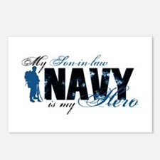 Son-in-law Hero3 - Navy Postcards (Package of 8)