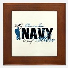 Son-in-law Hero3 - Navy Framed Tile