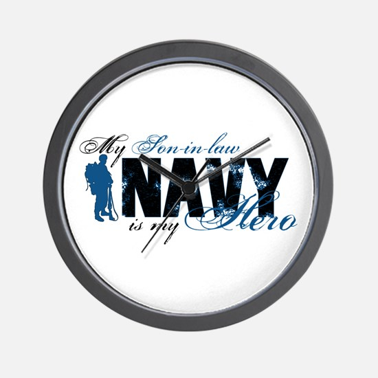 Son-in-law Hero3 - Navy Wall Clock