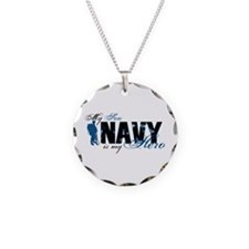 Son Hero3 - Navy Necklace Circle Charm