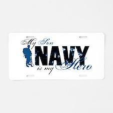 Son Hero3 - Navy Aluminum License Plate