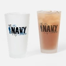 Son Hero3 - Navy Drinking Glass