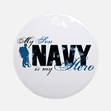 Son Hero3 - Navy Ornament (Round)