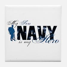 Son Hero3 - Navy Tile Coaster