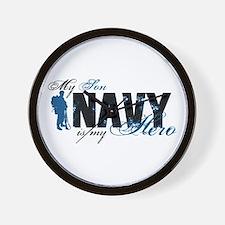 Son Hero3 - Navy Wall Clock