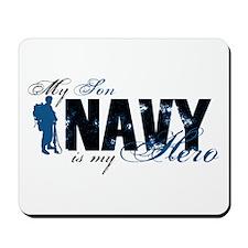 Son Hero3 - Navy Mousepad