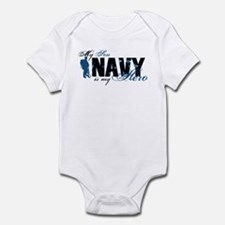 Son Hero3 - Navy Infant Bodysuit