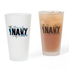Sis-in-law Hero3 - Navy Drinking Glass