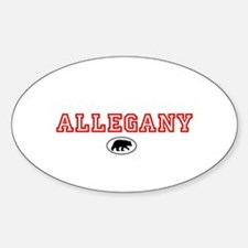 Red Allegany Bear Decal