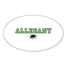 Green Allegany Bear Circle Decal