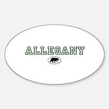 Green Allegany Bear Circle Decal
