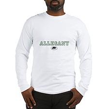 Green Allegany Bear Circle Long Sleeve T-Shirt