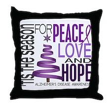 Christmas 1 Alzheimer's Disease Throw Pillow
