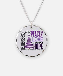 Christmas 1 Alzheimer's Disease Necklace