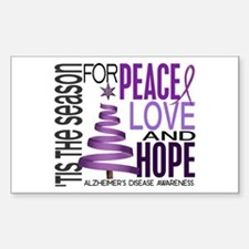 Christmas 1 Alzheimer's Disease Decal