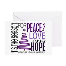 Christmas 1 Alzheimer's Disease Greeting Card