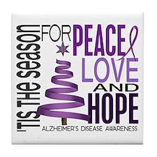 Christmas 1 Alzheimer's Disease Tile Coaster