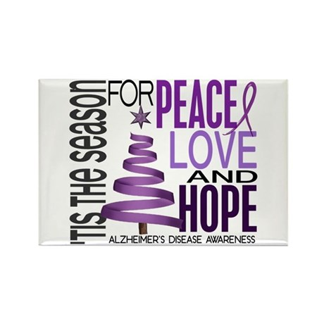 Christmas 1 Alzheimer's Disease Rectangle Magnet (