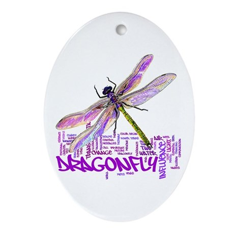 Dragonfly totem Ornament (Oval)