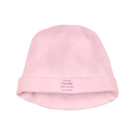 Cute Like Mommy baby hat