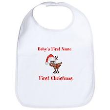 Personalized First Christmas Bib
