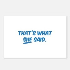 That's what SHE said. Postcards (Package of 8)