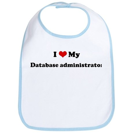 I Love Database administrator Bib