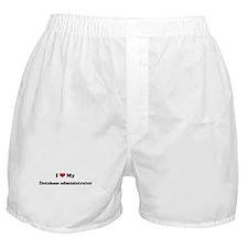 I Love Database administrator Boxer Shorts