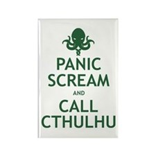 Panic Scream and Call Cthulhu Rectangle Magnet