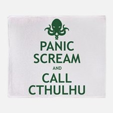 Panic Scream and Call Cthulhu Throw Blanket